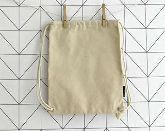 Calico canvas drawstring bag for toddlers