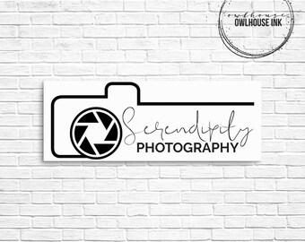 Premade Logo Design / Photographer Logo / Minimalist Logo / Rectangle Logo / Photography Logo / Business Logo / Watermark/ 133