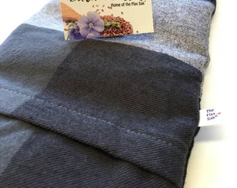 """Xl FLAX HEATING pad, Microwavable """"The Flax SaK"""" Plaid Flannel washable covers, Perfect Christmas Gift Ideas, Hot Cold Pack, Pain relief"""
