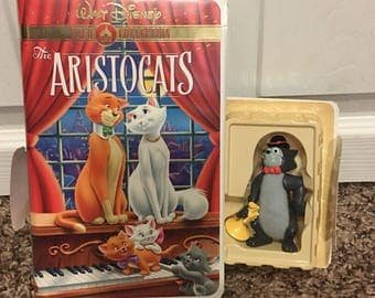 Walt Disney's The Aristocats and Figure - Vintage VHS