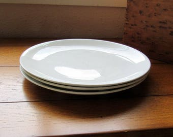 3 Snowhite Ironstone Dinner Plates Johnson Bros England China Mix and Match Replacement Dishes
