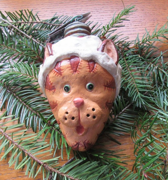 Tiger Head Light Bulb Christmas Ornament