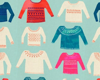 Noel - My Favorite Sweater Blue - Alexia Abegg - Cotton and Steel (5133-2)