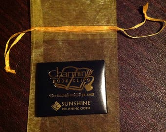 Polishing Cloth to keep your Charming Book Clip gleaming!