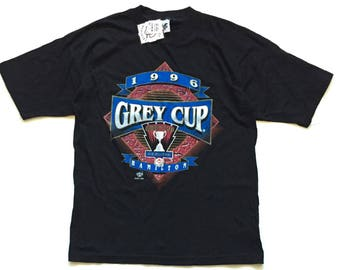 1996 Grey Cup Hamilton Tiger Cats CFL FOOTBALL t shirt deadstock new with tags size Medium