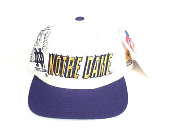 Vintage Notre Dame Fighting Irish sports specialties Shadow snapback wool deadstock brand new NWT 90s