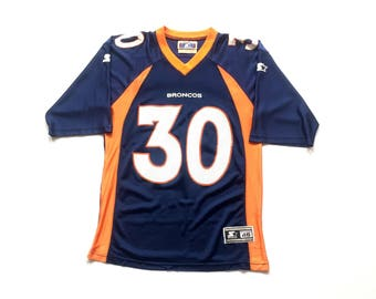 1995 STARTER Terrell Davis Denver Broncos nfl football throwback jersey size Medium 46