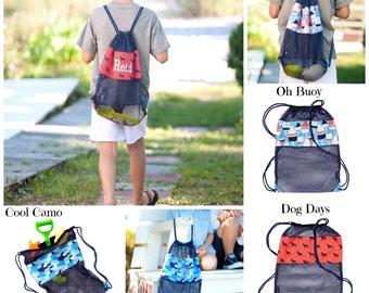 Mesh Beach Backpack