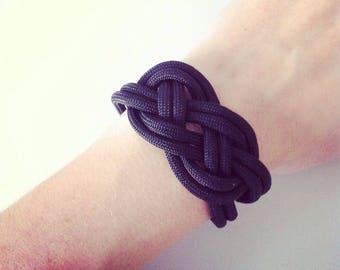 Black and silver sailor knot bracelet