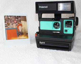 Upcycled Retro Green Polaroid Spirit 600 - Cleaned, Tested and Ready for Fun