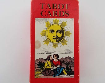 Vintage 1970's Tarot Cards SR Kaplan AG Muller Switzerland Fortune Telling Cards Complete With Instructions Occult Death Devil