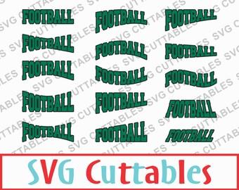 Football SVG, DXF, EPS, set of 30 Football layouts, Vector, Digital Cut file