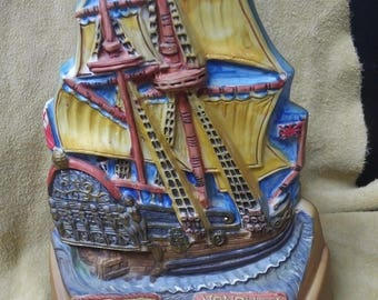 Vintage Hudson's Bay Company Collectible  Nonsuch Sailing Ship Bottle