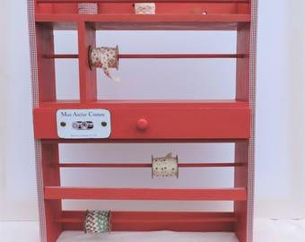 SHELF rack RIBBONS for seamstress (handmade) recycled item