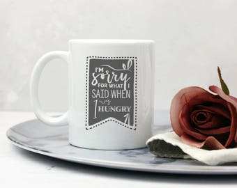 Hangry Typographic Apology Mug