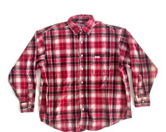 Grunge Red Plaid Flannel by Guess