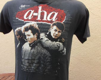 Size L (44) ** 1986 a-ha Concert Shirt (Single Sided)