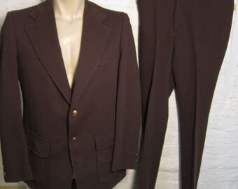 Size L (42R) ** Wonderful High-End 1970s 2-Button Suit