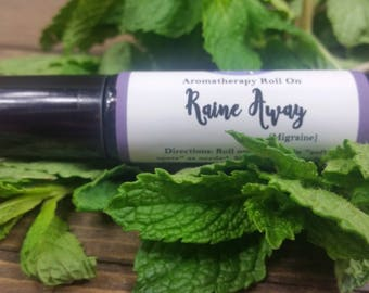 Migraine Relief Oil - Headache Relief - Herbal Remedies - Natural Migraine Relief - Aromatherapy Oils - Migraine Roll On - Roller Bottles