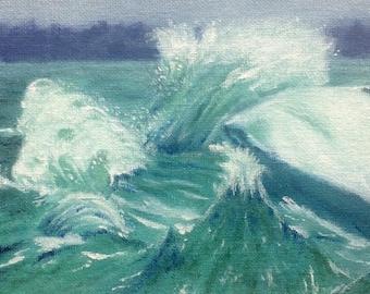Original ocean oil painting seascape