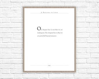 A Return To Love Quotes Enchanting Return To Love Quote  Etsy