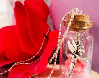 Tinkerbell Rose Necklace