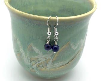 Lapis Lazuli Earrings -Lapis Lazuli Earrings Sterling-Blue Lapis Lazuli Earrings-Blue gemstone earrings-Lapis Earrings- butterfly earrings