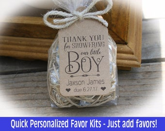 Sweet BABY Favors   Baby Shower Favors/ DIY Bags/Favor Tags W/Ribbon