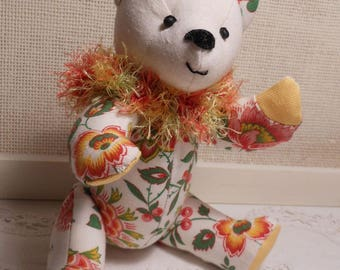 Teddy bear collection floral Provence fabric