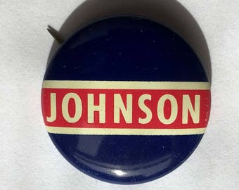 1964 Lyndon B. Johnson Presidential Campaign Pinback Button