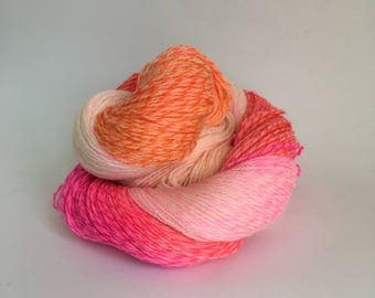 Hand dyed merino tweed yarn ~ 'I dunno what it is, but there's definitely vodka in it...' ~ neon, sock yarn, shawl yarn