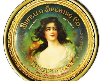"""Buffalo Brewing Co Bohemian Beer Restaurant And Bar Metal Sign 14""""x14"""" Round 24g Steel Sign RG7576"""