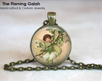 FLOWER FAIRY Pendant • Vintage Flower Fairy • Vintage Fairy • Fairy Art • Gift Under 20 • Made in Australia (P1467)