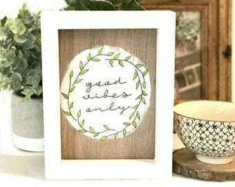 Good Vibes Only Sign - Good Vibes Sign - Good Vibes Only - Good Vibes Quote - Positive Vibes - Small Wood Signs - Wood Sign - Good Vibes