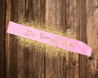 PINK SASH 21st Birthday Babe