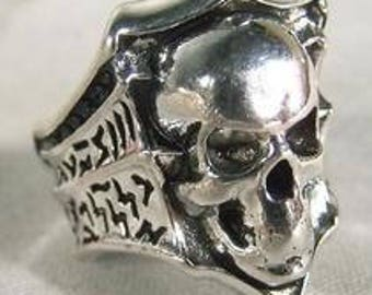 Skull with Shield Ring