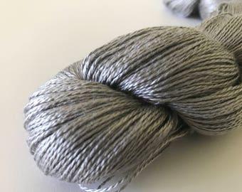 Gray Silk Lace Yarn (Cone or Hank)