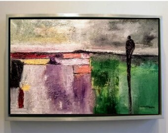 """Abstract Landscape 14 Original Oil Painting (24""""x18"""")"""
