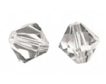 1 lot 20 swarovski bicones 4mm crystal Swarovski Crystal shadow