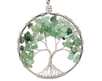 1 AVENTURINE tree of life pendant - ref.or.yi