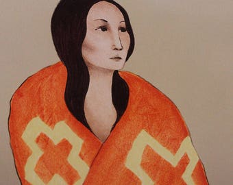 R C Gorman 1980 Artist Proof Stone Lithograph Navajo Artist