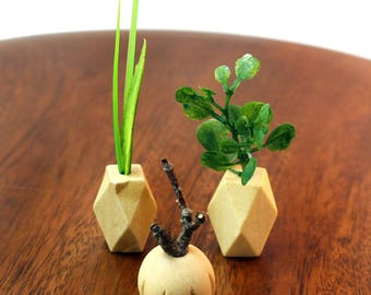 Set of 3 Miniature Vases - Natural Neutrals Collection