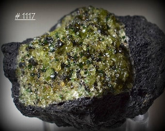 Dunite (Olivinite) in Vesicular Basalt Lava from Hebei,Province, China - Rock and Mineral Collectible
