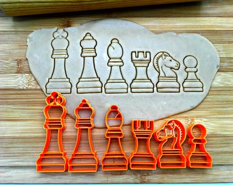 Chess Set Cookie Cutters/Set of 6/Multi-Size