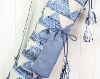Denim Yoga Mat Bag | Bohemian Chic Yoga Bag