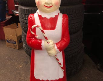 Christmas union products mrs claus blow mold yard decoration plastic light up