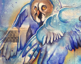 The Owls Are Not What They Seem IX (Ornithology~Aircraft Instruments - Great Grey Owl) ~ Print