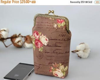 SALE iPhone 7 wallet Rose gold, Floral iPhone 6s Case Roses, Wallet phone case, iPhone 6s wallet, Roses iPhone 7 Plus Wallet Gift for her