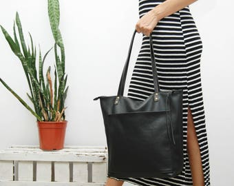 Leather tote bag,everyday bag,supple leather,oversized,soft leather