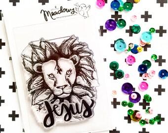 Like A Lion Mini Stamps Christian Scrapbooking Stamping Bible Journaling Jesus Lion Aslan Tribe of Judah Worship Growing Meadows Tai Bender
